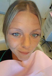 Heidi i tannlegestolen